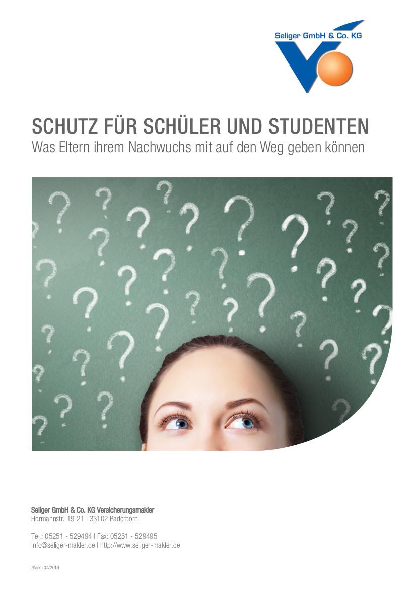 Schutz für Schüler und Studenten
